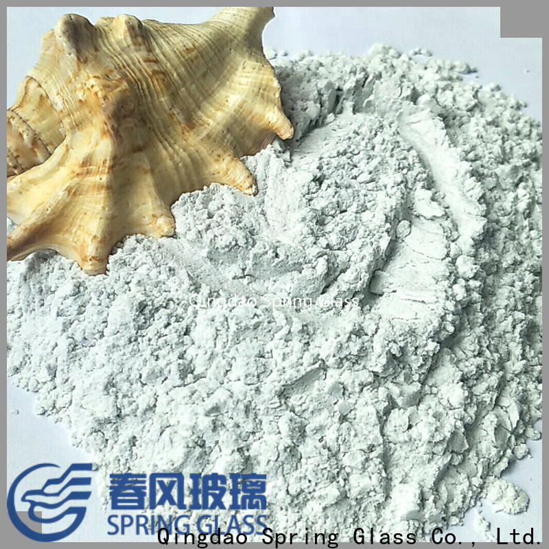 super white crushed glass powder manufacturer for paving