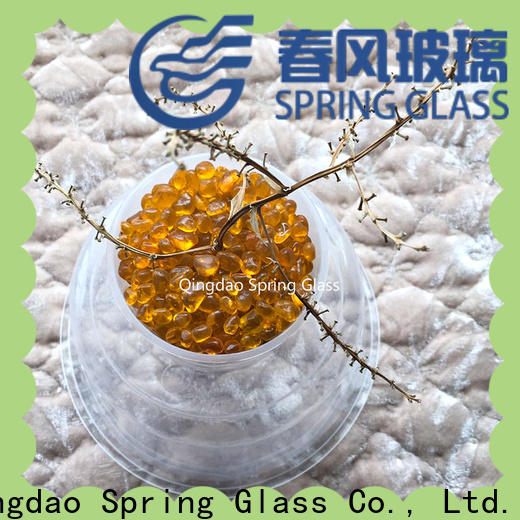 Spring Glass glass gravel factory for swimming pool