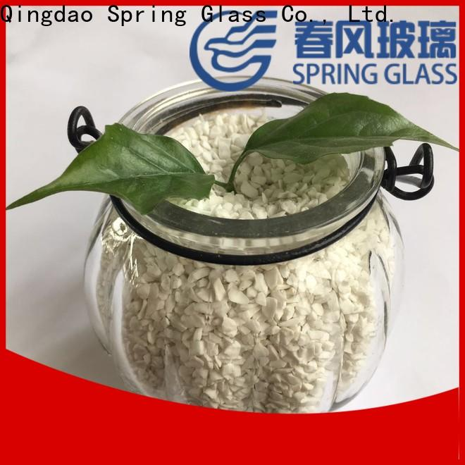 Spring Glass crushed glass supplier for sale