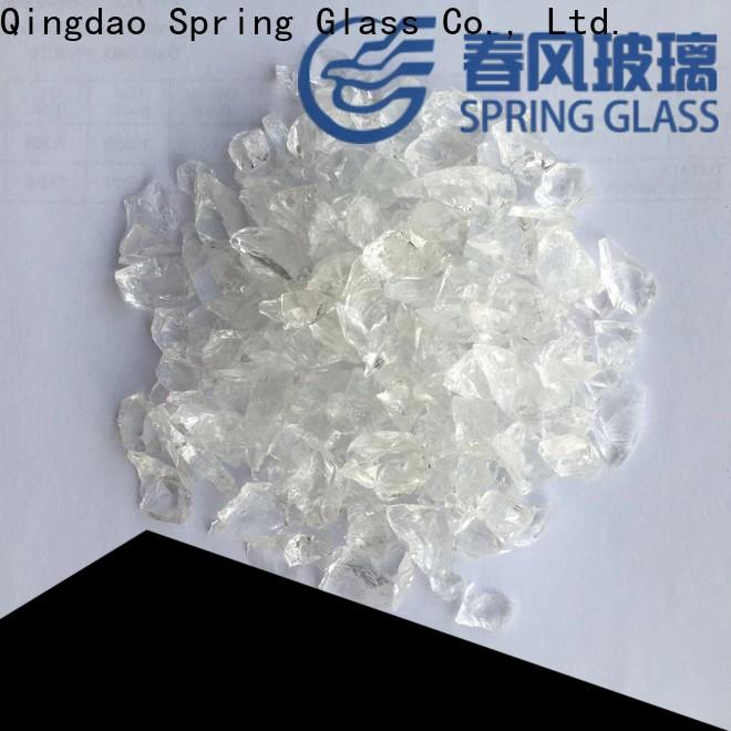 tawny decorative crushed glass supplier for kitchen