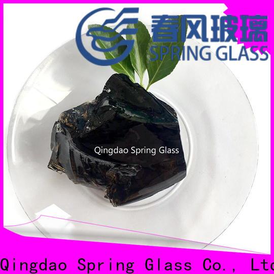 Spring Glass top fire glass rocks manufacturer for garden