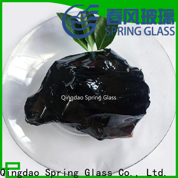Spring Glass landscaping glass rocks supplier for square