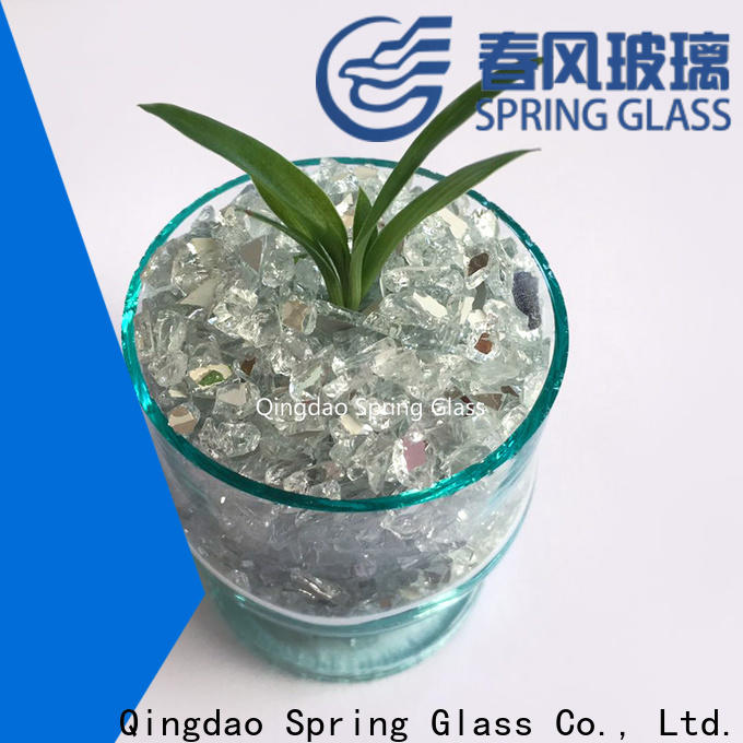Spring Glass hot sale crushed mirror chips factory for engineered stone