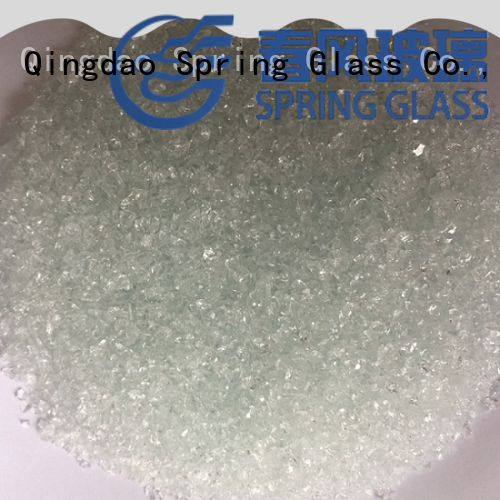 Spring Glass sky blue crushed glass manufacturer for kitchen
