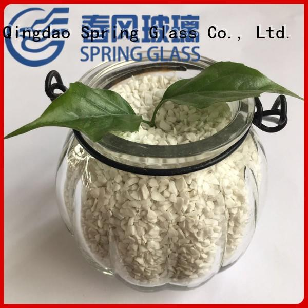 crushed glass superior quality for decoration Spring Glass