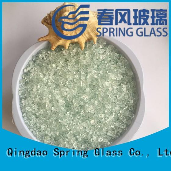 Spring Glass tawny decorative crushed glass company for sale