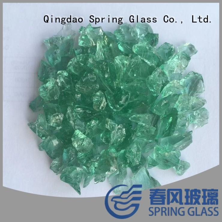 Spring Glass light crushed glass factory for sale
