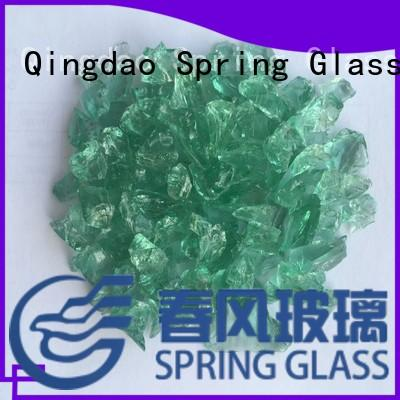 Spring Glass custom decorative crushed glass manufacturer for kitchen