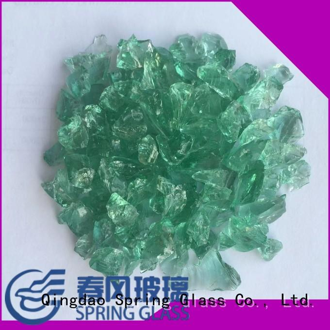 Spring Glass new recycled crushed glass manufacturer for decoration
