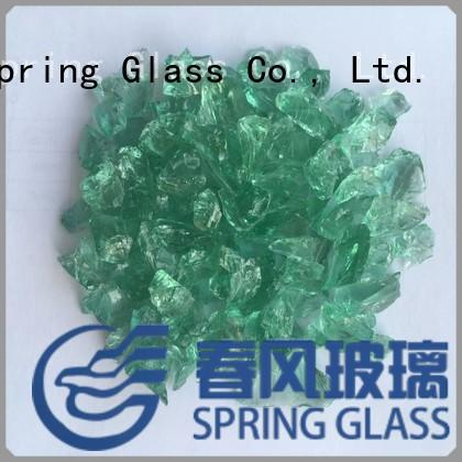 Spring Glass red recycled crushed glass wholesale for floor
