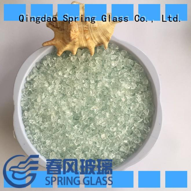 Spring Glass decorative crushed glass supplier for decoration
