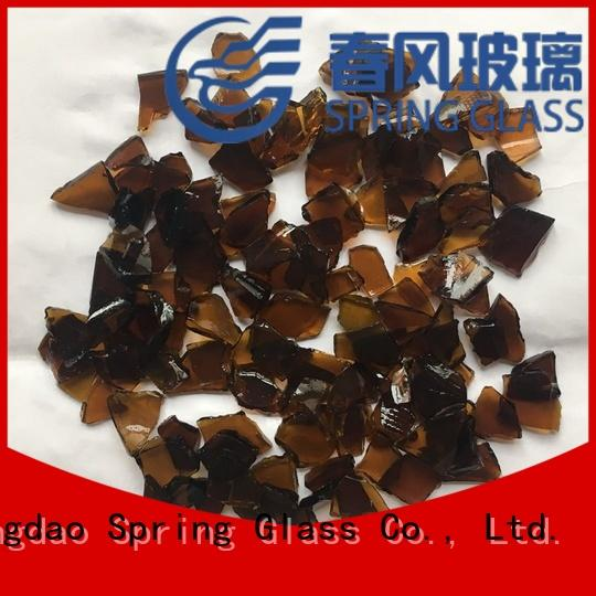 Spring Glass sheet glass cullet supplier for fire bottle