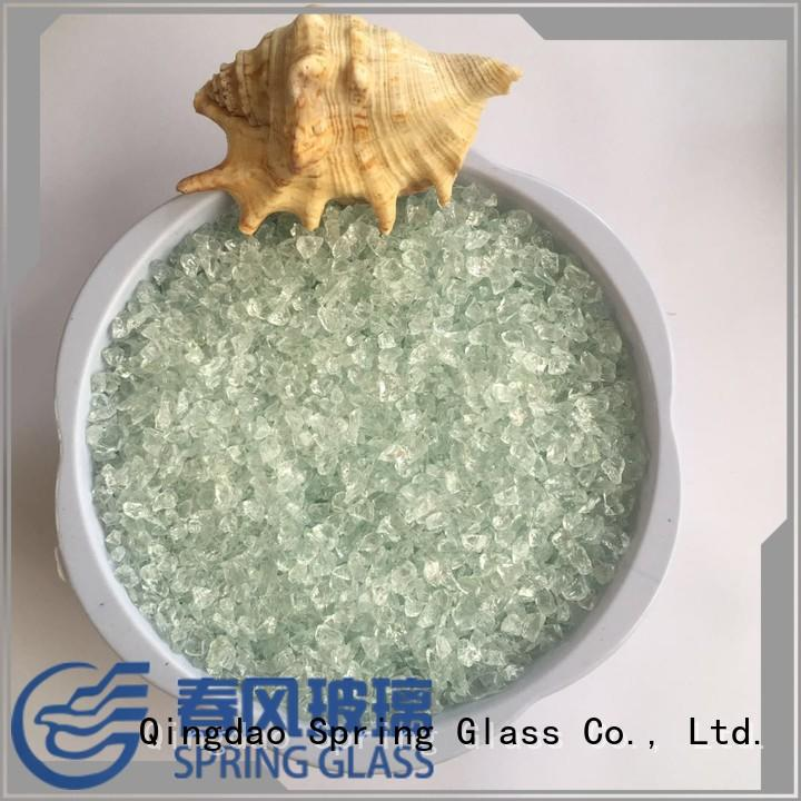 Spring Glass porcelain crushed glass wholesale for floor