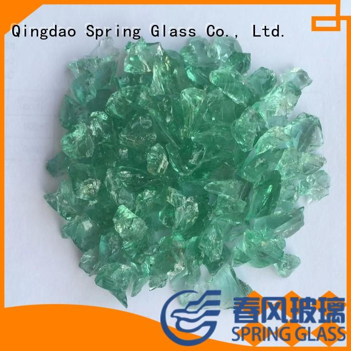 Spring Glass decorative crushed glass supplier for kitchen