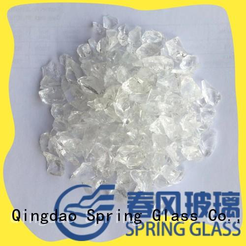 Spring Glass red crushed glass factory for decoration