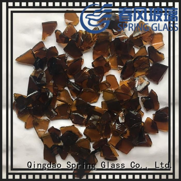 Spring Glass glass cullet supplier for fire bottle